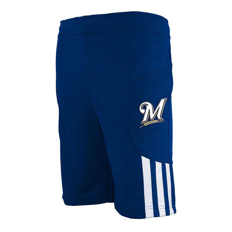adidas Milwaukee Brewers Shorts - Boys 4-7