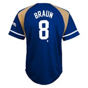 adidas Milwaukee Brewers Ryan Braun Jersey - Boys 4-7