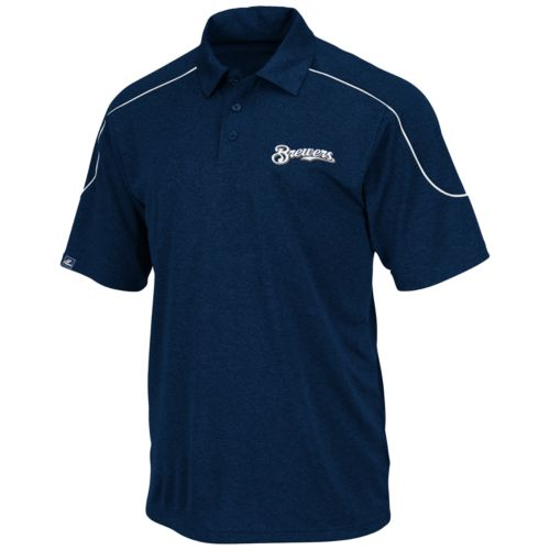 Majestic Milwaukee Brewers Polo - Big and Tall