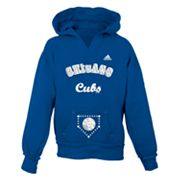 adidas Chicago Cubs Hoodie - Girls 7-16