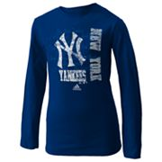 adidas New York Yankees Tee - Girls 7-16