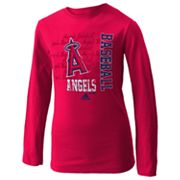 adidas Los Angeles Angels of Anaheim Tee - Girls 7-16