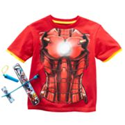 The Avengers Iron Man Mock-Layer Tee- Boys 4-7