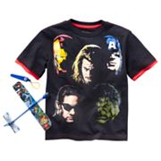 The Avengers Group Shot Mock-Layer Tee - Boys 4-7