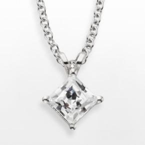 14k White Gold 1-ct. T.W. IGL Certified Diamond Solitaire Pendant