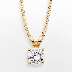 14k Gold 1/2-ct. T.W. IGL Certified Diamond Solitaire Pendant