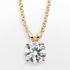 14k Gold 1 ctT.W. IGL Certified Diamond Solitaire Pendant