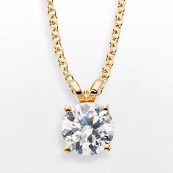 14k Gold 1-ct. T.W. IGL Certified Diamond Solitaire Pendant