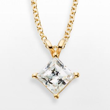 14k Gold 1-ct. T.W. IGL Certified Diamond Solitaire Pendant