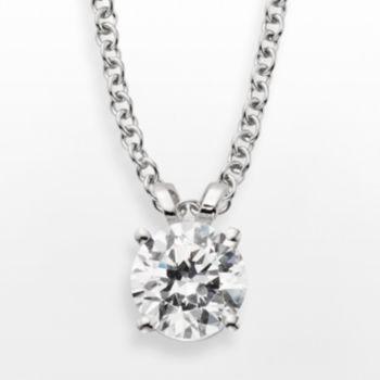 14k White Gold 1-ct. T.W. IGL Certified Diamond Solitaire Pendant