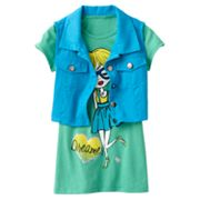 Knitworks Girl Tee and Crop Vest Set - Girls 7-16