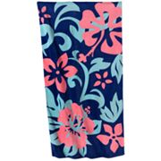 Caribbean Joe Beach Hawaiian Blooms Beach Towel