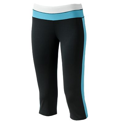 Derek Heart Colorblock Yoga Capris - Juniors