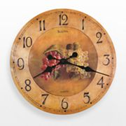 Bulova Whittingham Wood Grapes Wall Clock - C3260