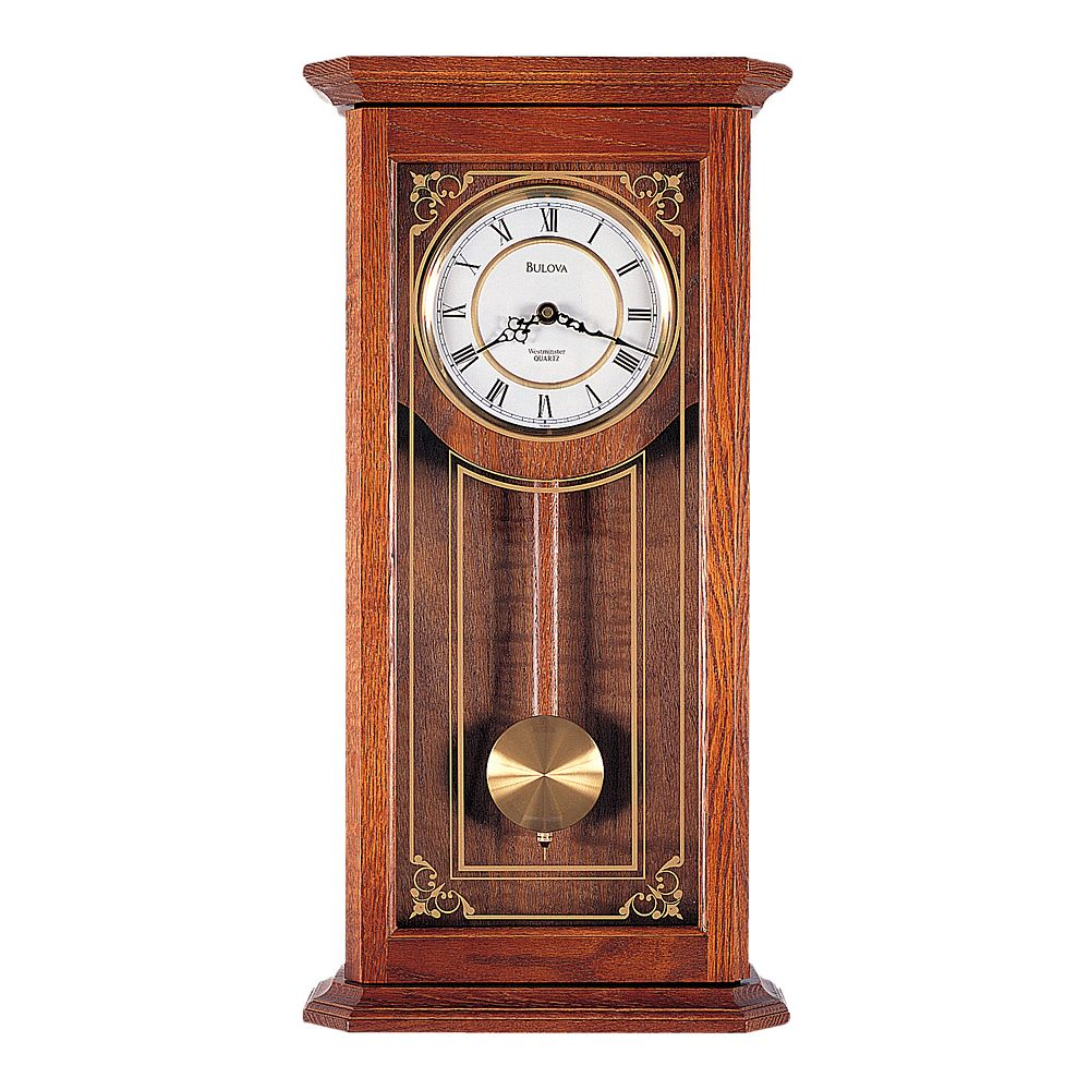 Cirrus oak pendulum wall clock c3375 bulova cirrus oak pendulum wall clock c3375 amipublicfo Choice Image