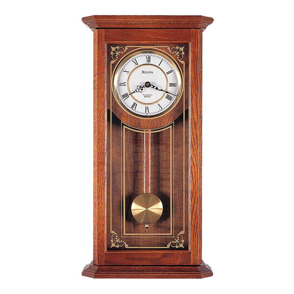 Bulova Cirrus Oak Pendulum Wall Clock - C3375