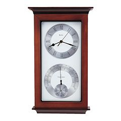 Bulova Yarmouth Wood Thermometer Wall Clock - C3760