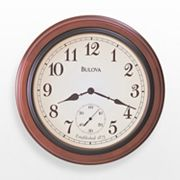 Bulova Richmond Bronze Tone and Wood Wall Clock - C4447
