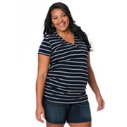 Oh Baby by Motherhood Striped Ruched Tee - Maternity Plus