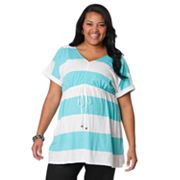 Oh Baby by Motherhood Striped Empire Tunic - Maternity Plus