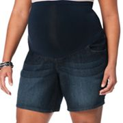 Oh Baby by Motherhood Secret Fit Belly Denim Shorts - Maternity Plus