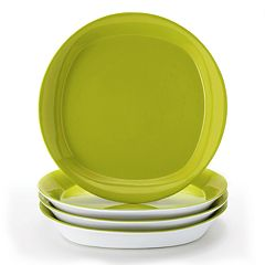 Rachael Ray Round & Square 4 pc Salad Plate Set