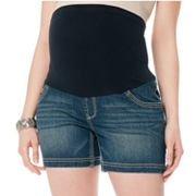Oh Baby by Motherhood Secret Fit Belly Denim Shorts - Maternity