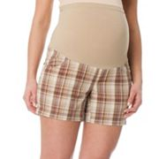 Oh Baby by Motherhood Secret Fit Belly Plaid Shorts - Maternity
