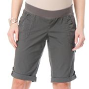 Oh Baby by Motherhood Underbelly Poplin Bermuda Shorts - Maternity