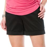 Oh Baby by Motherhood Secret Fit Belly Sateen Shorts - Maternity