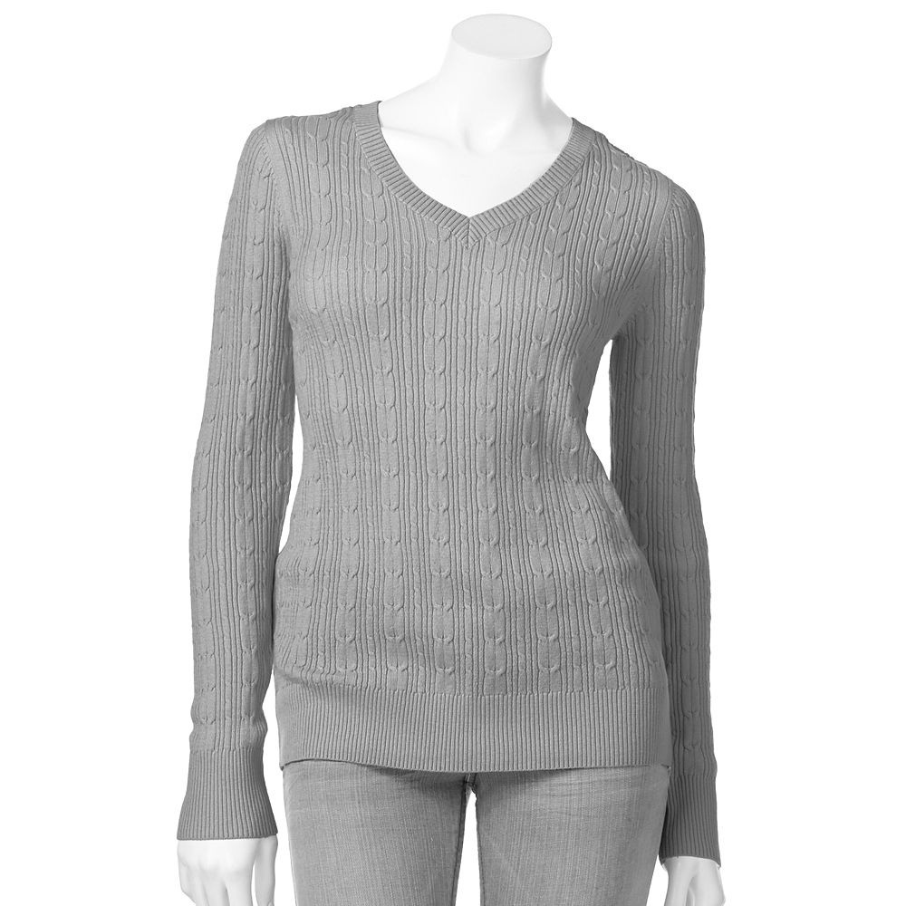 Women's SONOMA Goods for Life® Cable-Knit Sweater