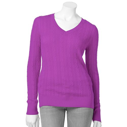 Women's SONOMA Goods for Life™ Cable-Knit Sweater