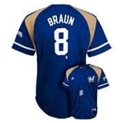 adidas Milwaukee Brewers Ryan Braun Jersey - Boys 8-20