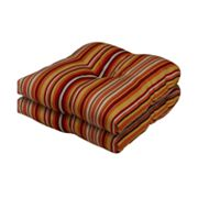 Hombre Stripe Outdoor 2-pk. Chair Pads