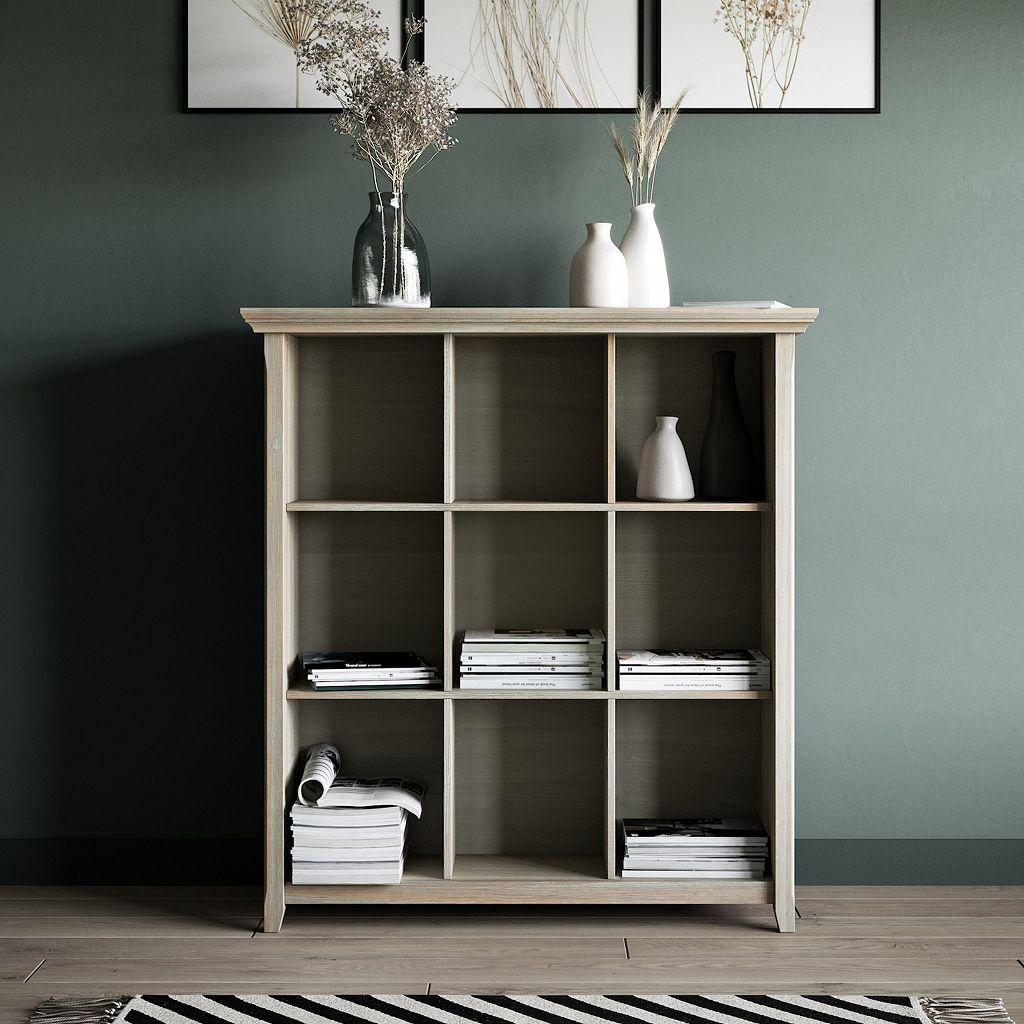 Simpli Home Acadian 9-Cube Storage Shelf