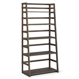 Simpli Home Acadian Ladder 5-Shelf Bookcase