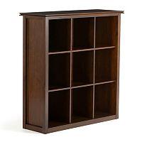Simpli Home Artisan 9-Cube Bookcase