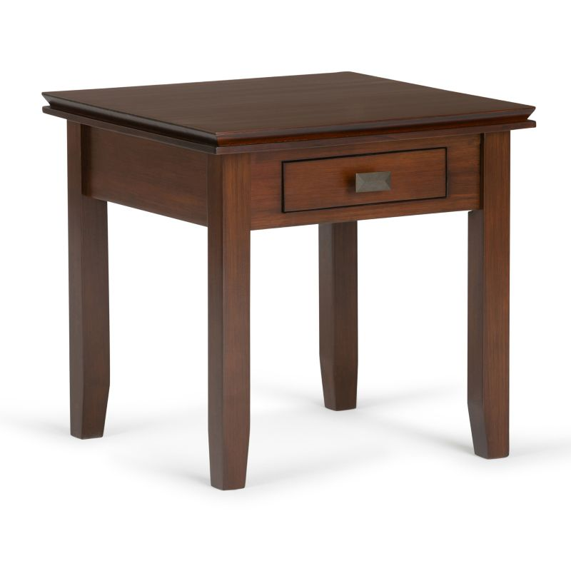 Simpli Home Artisan End Table, Brown
