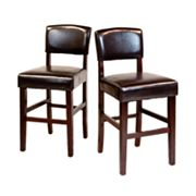 Simpli Home Avalon 2-pc. Counter Stool Set