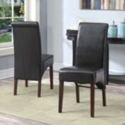 Simpli Home Avalon 2-pc. Parson Chair Set