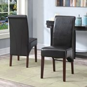 Simpli Home Avalon 2 pc Parson Chair Set
