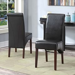 Simpli Home Avalon 2 pc Parson Chair Set