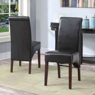 Simpli Home Avalon 2-pc. Parson Chair Set