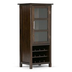 Simpli Home Avalon 12-Bottle Wine Cabinet