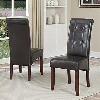 Simpli Home Cosmopolitan 2 pc Parson Chair Set