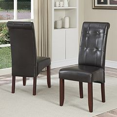 Simpli Home Cosmopolitan 2 pc Parson Chair Set