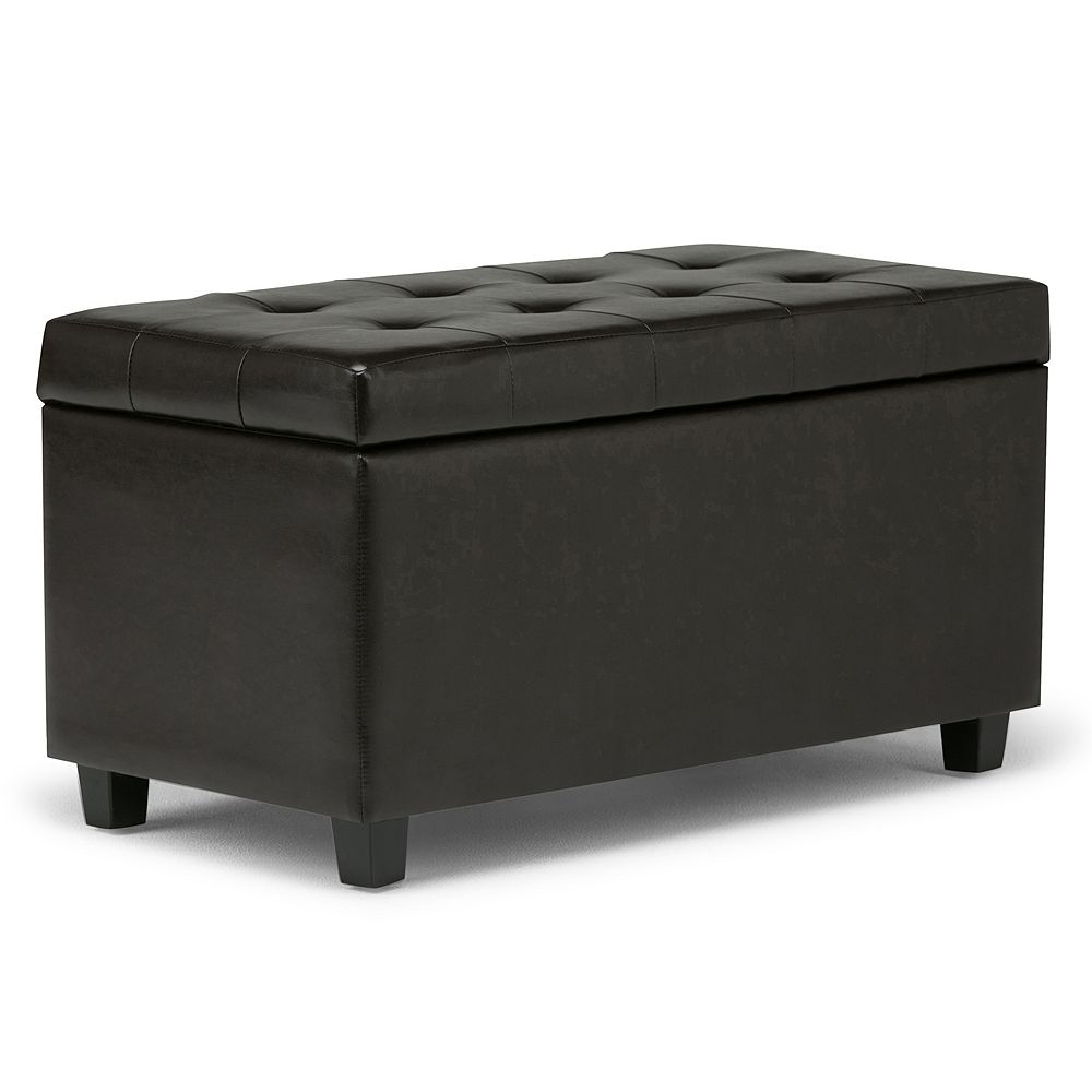 Simpli Home Cosmopolitan Rectangular Storage Ottoman Bench. sale - Storage Ottomans & Poufs, Furniture Kohl's