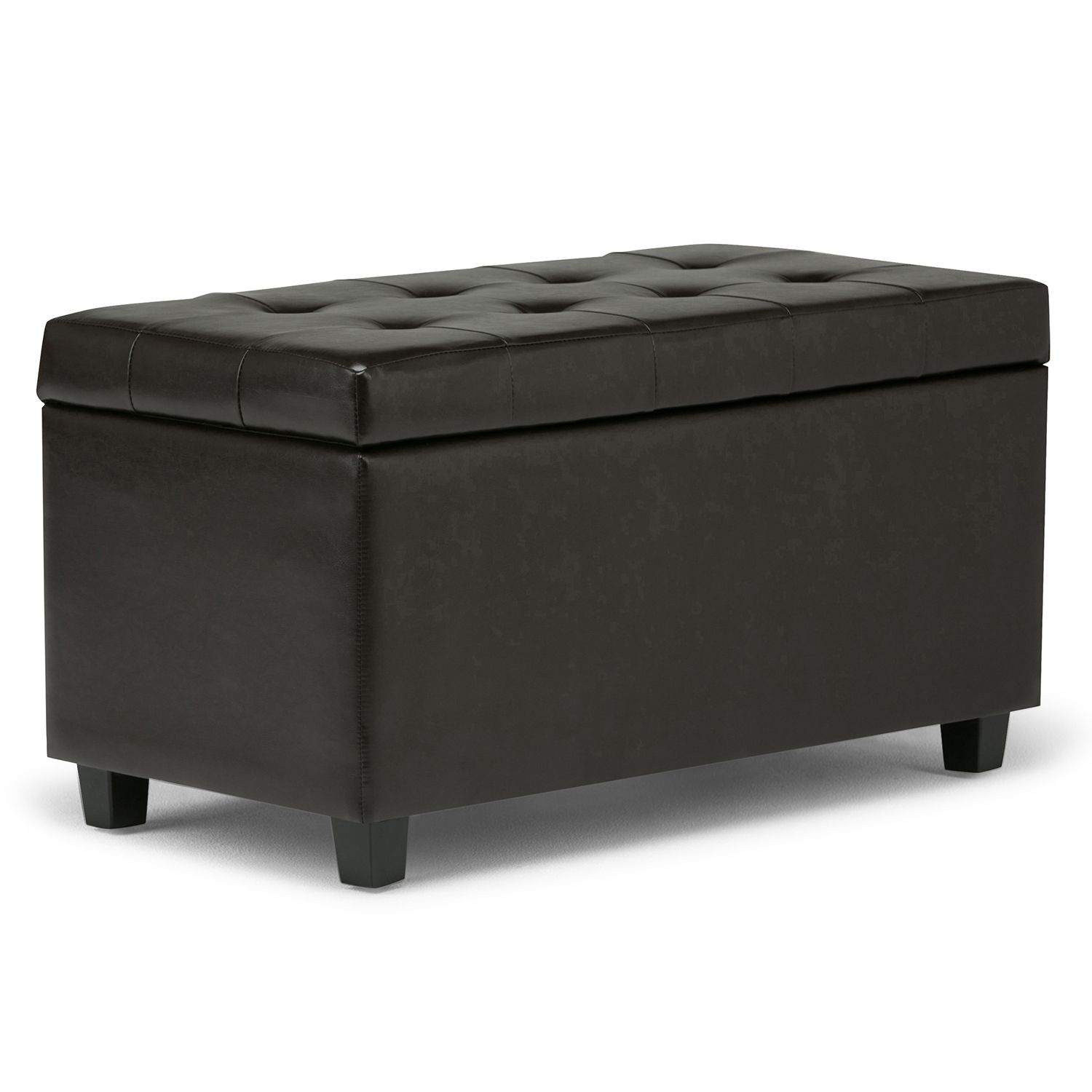Simpli Home Cosmopolitan Rectangular Storage Ottoman Bench