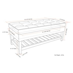 Simpli Home Cosmopolitan Storage Ottoman Bench