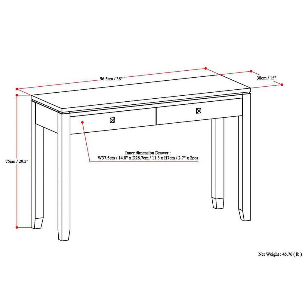 Simpli Home Cosmopolitan Console Table